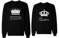 Cute Couple's Matching Sweatshirts - King and Queen