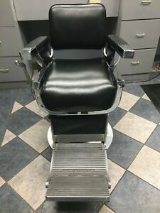 Belmont Barber Chair Black Leather