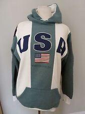 P&D Sports Green White Stripe USA Washington DC Sweatshirt Hoodie Size XL