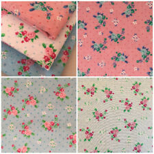 Fat Quarters Metres Spring Time Small Floral Polycotton Fabric Craft Dressmaking