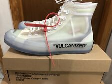 Off White Converse Vulcanized  The Ten 10 Chuck Taylor All Star High 7.5