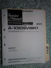 Pioneer A-X909V service manual original repair book stereo amp amplifier 25 page