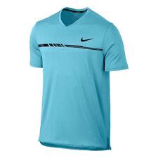 Nike Court Men Dry Premier Challenger Tennis Top Vivid Sky Black S 830897-432