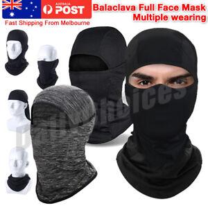 Ultra-thin Full Face Mask lycra Balaclava Motorcycle Cycling Ski Neck Protect AU