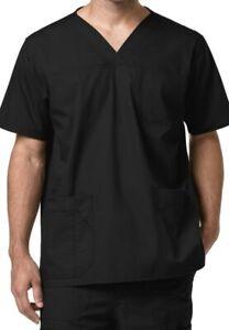 Carhartt Ripstop Multi Pocket Scrub Top Mens 3X Black Vneck
