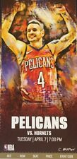 New Orleans Pelicans vs Charlotte Hornets Ticket Stub 4/7/20 Zion RARE CANCELED