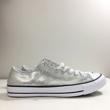 Converse Chuck Taylor Low Top Silver Glitter Sneakers Size 11 13