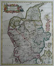 Iutiae tabula - Jütland, Dänemark  - Von Frederick de Wit - 1680