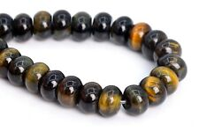 """6x4MM Natural Yellow Blue Tiger Eye Beads Grade A Rondelle Loose Beads 7.5"""""""