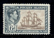 PITCAIRN ISLANDS 6 SG6 MH 1940-51 6p KGVI Defin HMS Bounty Cat$6