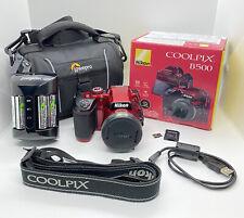 Nikon Coolpix B500 Red 16MP 40x Optical Zoom Digital Camera Bundle
