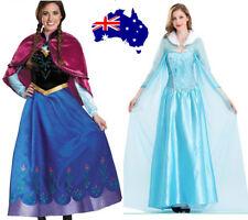 Book Week Women Adult Frozen Anna Princes Elsa Queen Cosplay Fancy Dress Costume