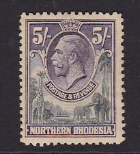 Northern Rhodesia. 1925. SG 14, 5/- slate grey & violet. Mounted mint.
