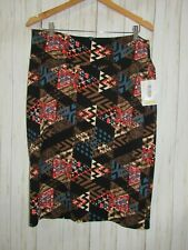 NWT LuLaRoe Aztec Print Cassie Pencil Skirt Size 3XL