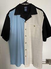 Vintage Rockabilly Shirt Rat Pack Hipster ColorBlock John Blair Size Large