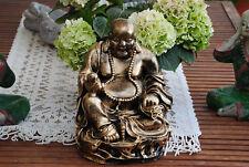 Buddha Figur lachender  dicker  Happy Buddha XL Antik Designe  Glück Feng Shui