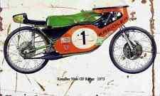 Kreidler 50cc GP Racer 1973 Aged Vintage SIGN A3 LARGE Retro
