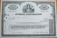 1973 Stock Certificate: 'Sybron Corporation' - Dental/Medical - Gray