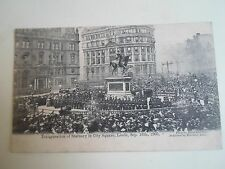 G172 Old Postcard INAUGURATION OF STATUARY LEEDS Photo By Bacon And Sons