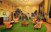 Memphis Tennessee~Ramada Inn Lobby~Grand Staircase~1967 Postcard