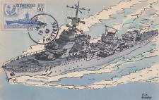 Carte  maximum   FRANCE   CLEMENCEAU    BREST   1942