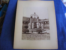 Florence Italy/Carthusian Monks at Monastery Well/Large Mounted Albumen Photo