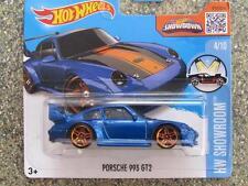 Hot Wheels 2016 #114/250 PORSCHE 993 GT2 blue HW Showroom Case E
