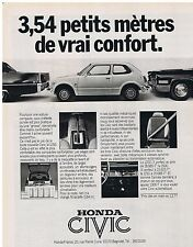 PUBLICITE ADVERTISING 114 1977 HONDA Civic