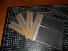 """Vintage 2 Hole Plastic Protectors Side-Loading 7""""x9"""" Pages Holds 4""""x7"""" Photos"""