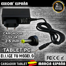 Cargador para Tablet Pc Exeom® Charger Pro 2.5mm 5v 2000mah 2A Compatible