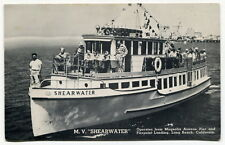 "Vintage Boat Advertising Postcard: M.V. ""SHEARWATER"" [Long Beach, California]"