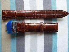 Cuero reloj banda correa 18mm Acero Inoxidable Cierre De Mariposa Hebilla