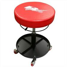 Rhyas Mechanics Pneumatic Garage Workshop Round Creeper Seat Stool & Tray