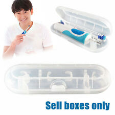 Portable Electric Toothbrush Holder Travel Case Transparent Storage Box Cover