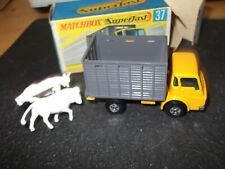 VINTAGE MATCHBOX SUPERFAST CATTLE TRUCK superb condition + BOX