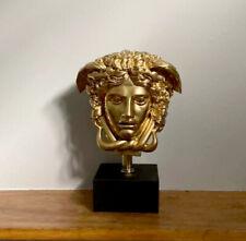 Medusa Bust Head Greek Roman Versace Sculpture Replica Reproduction Gold finish