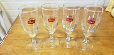 VINTAGE SET OF 4 SCHAEFER STEMMED BER GLASSES