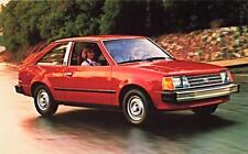 Old Print.  Red 1985 Ford Escort Auto Advertisement