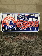 Vintage 1997 Tag Express Montreal Expos Plastic License Plate