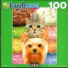 Triple Scoop 100 Piece Jigsaw Puzzle, Yorkie, Tabby Cat and a Mouse