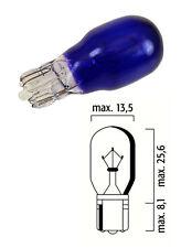 LAMPADINA 12V 10W T13 WEDGE BLU TACHIMETRO AUTO MOTO CICLO LAMPADA LUCE