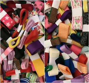 10 or 20 metres of mixed ribbon bundles, assorted colour ribbons, cardmaking