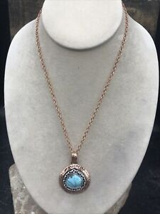 Barse Link Necklace- Turquoise & Mixed Metal- New With Tags