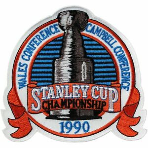 1990 NHL Stanley Cup Finals Jersey Patch Edmonton Oilers Boston Bruins