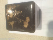 WOODEN LACQUERED & HAND DECORATED BOX MADE IN PRE-WAR JAPAN