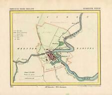 Antique Map-NETHERLANDS-TOWN PLAN-WEESP-NOORD HOLLAND-Kuyper-Kuijper-1865
