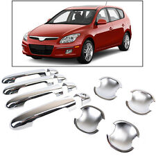 FOR 2007~2010 HYUNDAI ELANTRA i30 CHROME DOOR HANDLE + BOWL COVER TRIM MOLDING