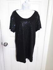 Victoria's Secret Supermodel Essentials Black Sequin Dress- Medium New w/tag
