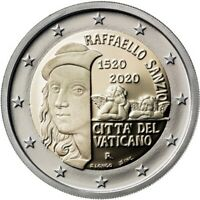 2 euro Vatikan 2020 : 500. Todestag von Raffael Unc