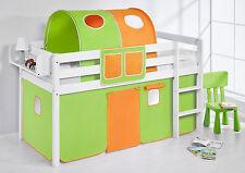 Juego de cama Alta Cuna Niños Cama JELLE Verde-Naranja